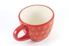 Copo de chá vermelho isolado fotografia de stock
