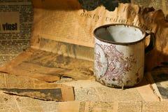 Copo de chá velho Fotos de Stock Royalty Free