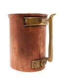 Copo de cobre velho isolado no branco Imagem de Stock Royalty Free