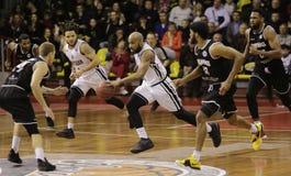 Copo de FIBA-Europa Basquetebol Rússia saratov foto de stock