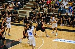 Copo de FIBA Trentino: Italy contra Canadá Imagem de Stock