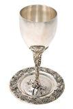 Copo de Kiddish com vinho Imagem de Stock Royalty Free