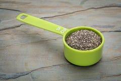 Copo de medição da semente de Chia Fotos de Stock Royalty Free