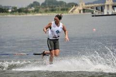 Copo de mundo 2008 do esqui de água: Truques de Shortboard da mulher Fotografia de Stock