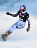 Copo de mundo 2010 da paralela do gigante do Snowboard imagem de stock royalty free