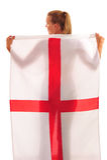 Copo de mundo 2010 - ventilador de Inglaterra imagem de stock royalty free