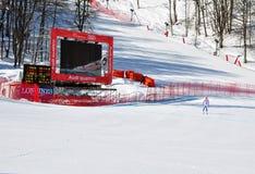 Copo de mundo alpino 2011/2012 do esqui de FIS fevereiro em 8, Imagem de Stock