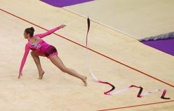 Copo de mundo da ginástica rítmica Fotos de Stock Royalty Free