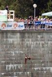 Copo de mundo do mergulho das grandes alturas fotos de stock royalty free