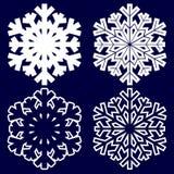 Copo de nieve abstracto decorativo Foto de archivo libre de regalías