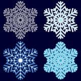 Copo de nieve abstracto decorativo Fotos de archivo