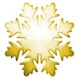 Copo de nieve amarillo del invierno Fotografía de archivo libre de regalías