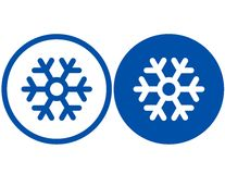 Copo de nieve azul stock de ilustración