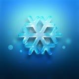 Copo de nieve azul Foto de archivo