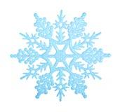 Copo de nieve azul Fotografía de archivo libre de regalías