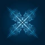 copo de nieve azul altamente detallado Foto de archivo