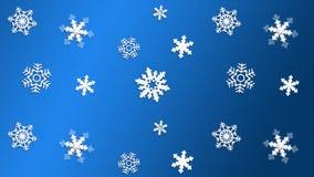 Copo de nieve AZUL de la textura del fondo Imagen de archivo