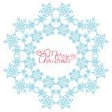Copo de nieve azul de los copos de nieve stock de ilustración