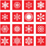 Copo de nieve blanco Fotos de archivo libres de regalías