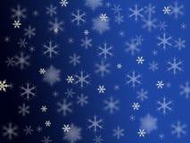 Copo de nieve blanco abstracto hermoso con el backg azul Imagen de archivo libre de regalías