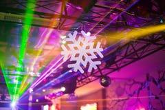 Copo de nieve blanco en el interior Imagen de archivo libre de regalías
