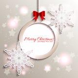 Copo de nieve chispeante de la estrella de la Navidad stock de ilustración