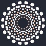 Copo de nieve colorido abstracto del vector con el fondo del invierno Tarjeta de felicitación de la Navidad o del Año Nuevo Foto de archivo