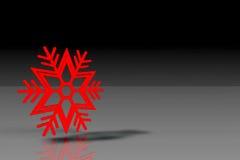 Copo de nieve con el fondo negro fotografía de archivo