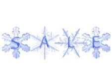Copo de nieve con venta Foto de archivo
