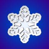 Copo de nieve cortado de la Navidad Foto de archivo
