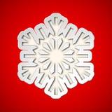 Copo de nieve cortado de la Navidad Foto de archivo libre de regalías