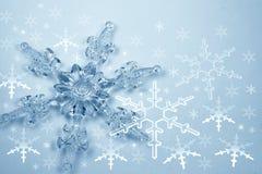 Copo de nieve cristalino Fotografía de archivo libre de regalías