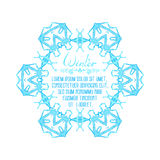 Copo de nieve de la acuarela del vector en el fondo blanco Fotos de archivo libres de regalías