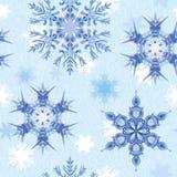 Copo de nieve de la acuarela Modelo inconsútil del vector Libre Illustration