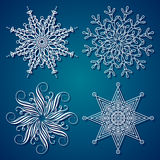 Copo de nieve de la elegancia stock de ilustración