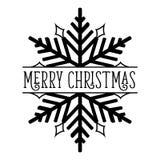 Copo de nieve de la Feliz Navidad Fotografía de archivo