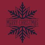 Copo de nieve de la Feliz Navidad Fotos de archivo