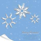 Copo de nieve de la gente Foto de archivo libre de regalías