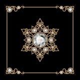 Copo de nieve de la joyería del oro Imagen de archivo libre de regalías