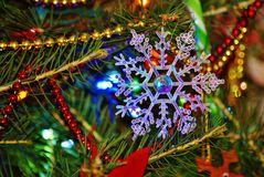 Copo de nieve de la Navidad Imagenes de archivo