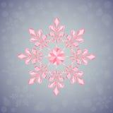 Copo de nieve de la Navidad de formas geométricas Muestra del copo de nieve rosado Fotografía de archivo