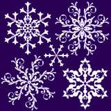 Copo de nieve de la vendimia de la colección (vector) Fotos de archivo libres de regalías
