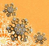 Copo de nieve de oro Imagen de archivo libre de regalías