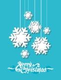 Copo de nieve de papel Fotografía de archivo libre de regalías