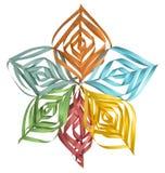 Copo de nieve de papel colorido de la Navidad Imagenes de archivo