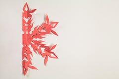 Copo de nieve de papel fino Imágenes de archivo libres de regalías