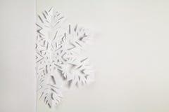 Copo de nieve de papel fino Foto de archivo
