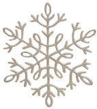 Copo de nieve de plata Fotos de archivo