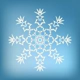 Copo de nieve decorativo Foto de archivo libre de regalías