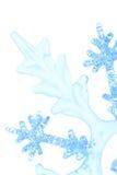 Copo de nieve decorativo de la Navidad Fotografía de archivo